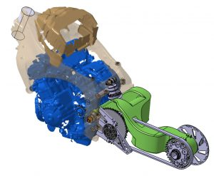 Conception d'un mono bras oscillant (Projet GECO)